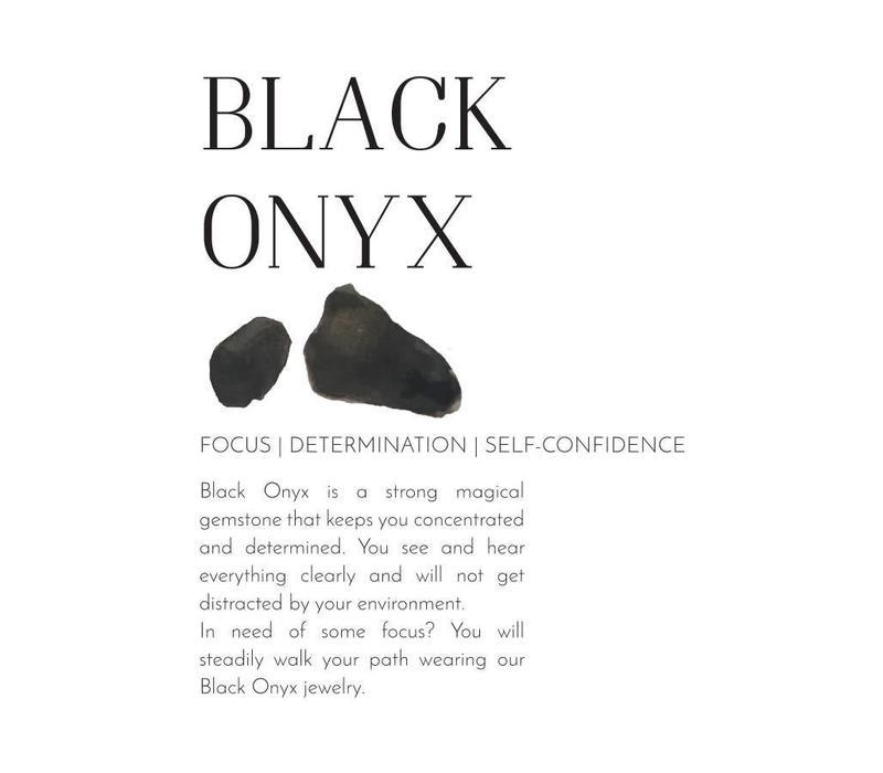 A Beautiful Story Tropical Zwarte Onyx Armband
