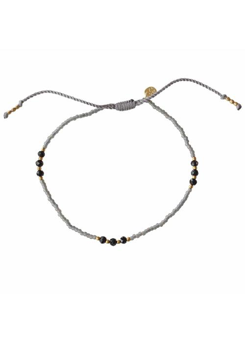 A Beautiful Story A Beautiful Story Sun Kissed Black Onyx Anklet