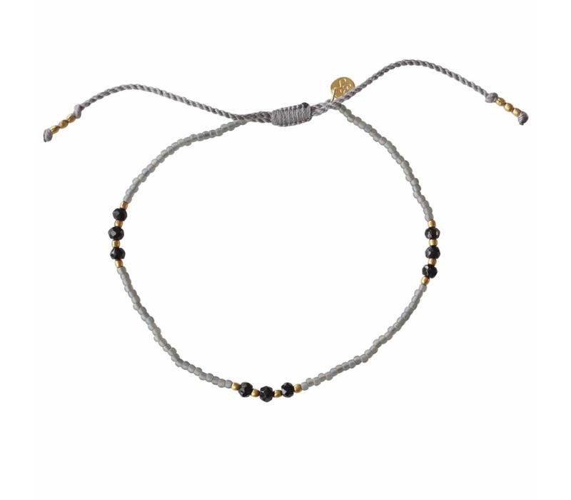A Beautiful Story Sun Kissed Black Onyx Anklet