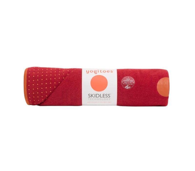 Yogitoes Yoga Towel 182cm 61cm - Chakra Red