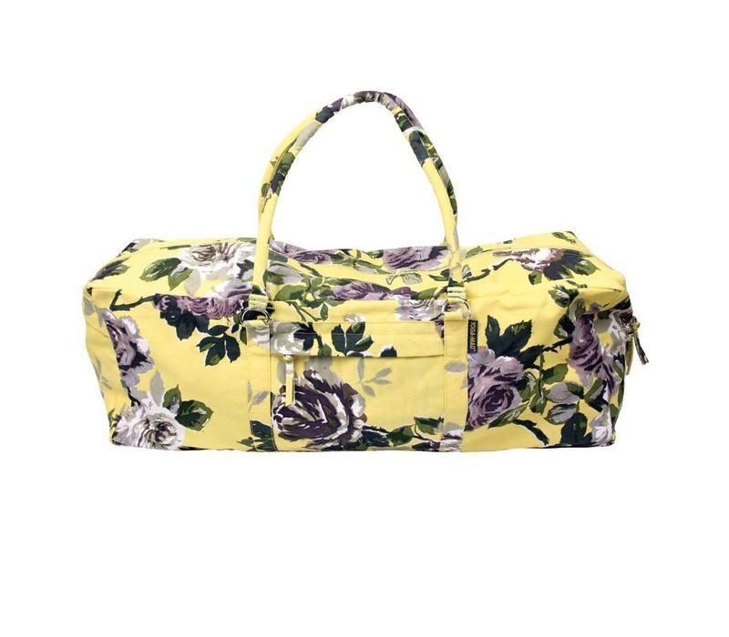 Yoga Kit Bag - Floral Yellow