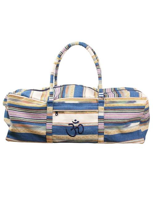 Yogamad Yoga Kit Bag Deluxe - Blue Stripes