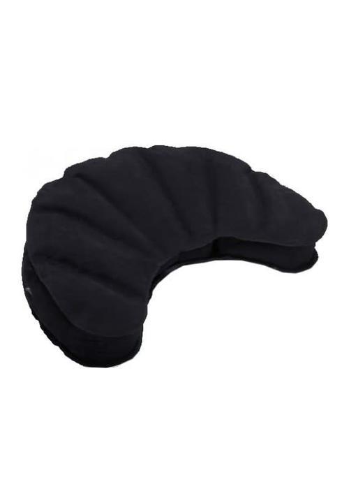 Samten Meditation Cushion Inflatable Half Moon - Black