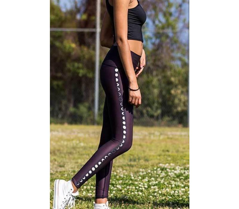 Teeki Yoga Legging - Black Moon