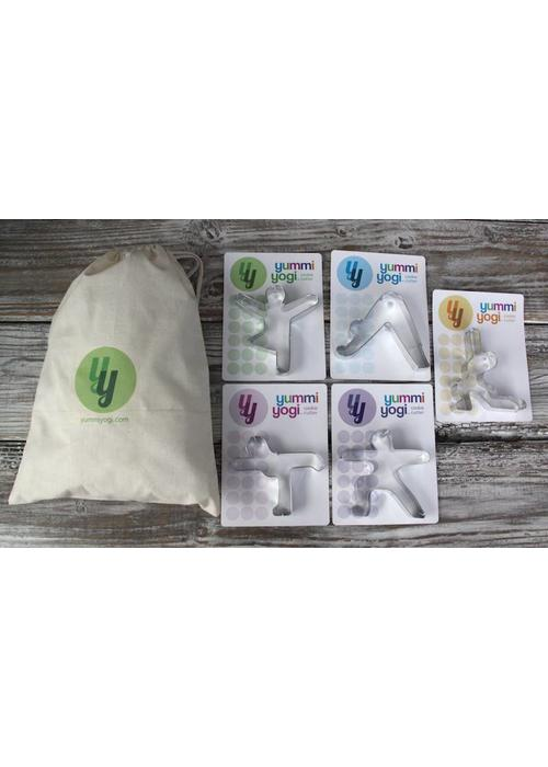 Yummi Yogi Set of 5 Yoga Cookie Cutters