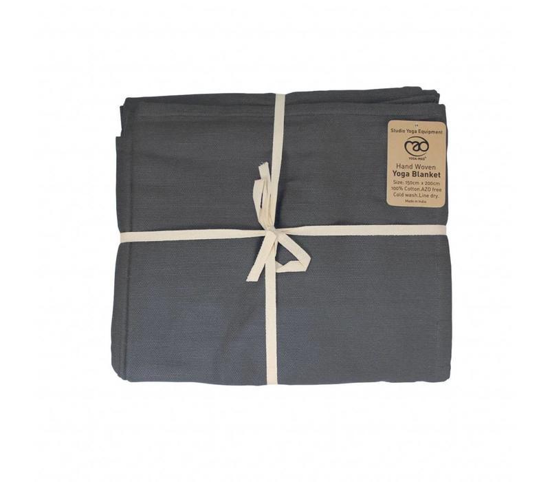 Yoga Blanket Cotton - Grey