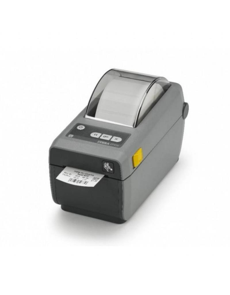 Zebra ZD410, Direct Thermisch, 12 dots/mm (203 dpi), USB, Bluetooth (BLE, 4.1), WiFi, Kleur donkergrijs - IOS