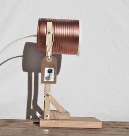 Tafel lamp (conserven blikje) - Koper