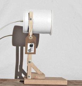 Tafel lamp (conserven blikje) - Wit