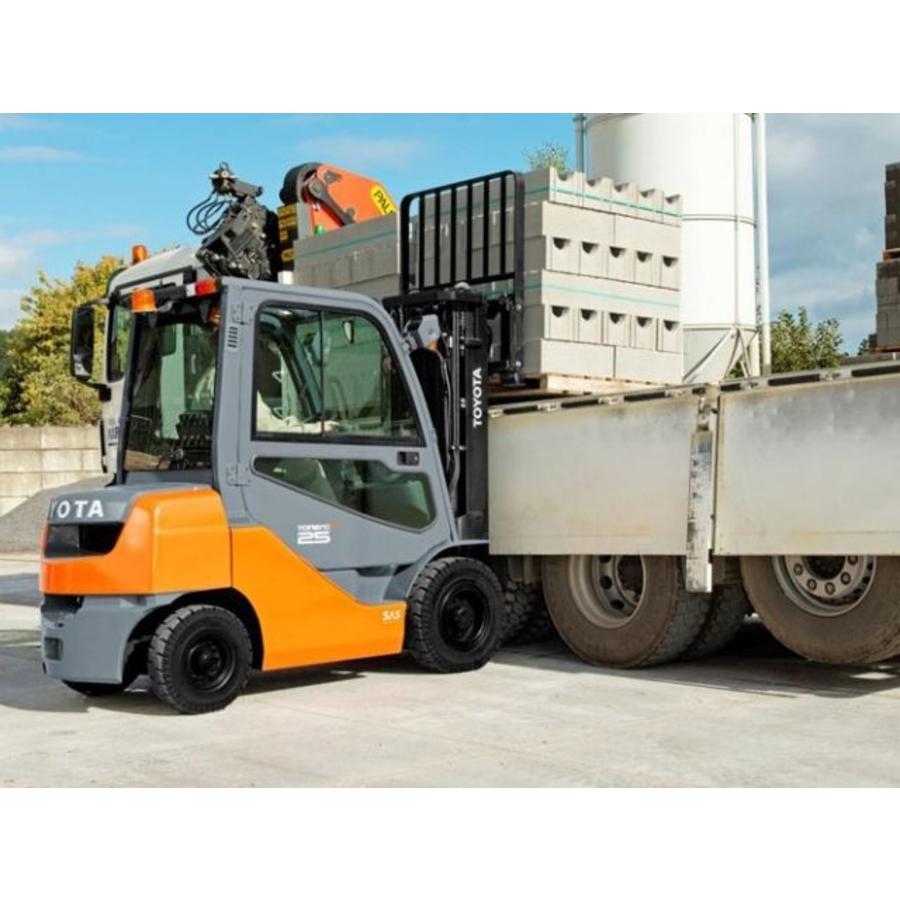 Diesel Heftruck huren 2.5 ton