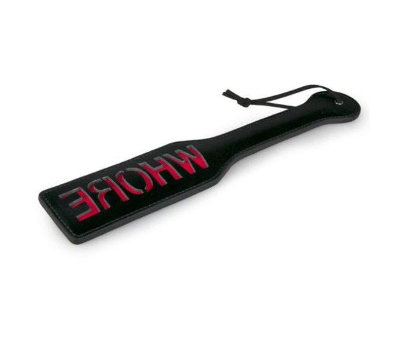 ET Zwart leren paddle - Whore