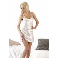 White satin negligee