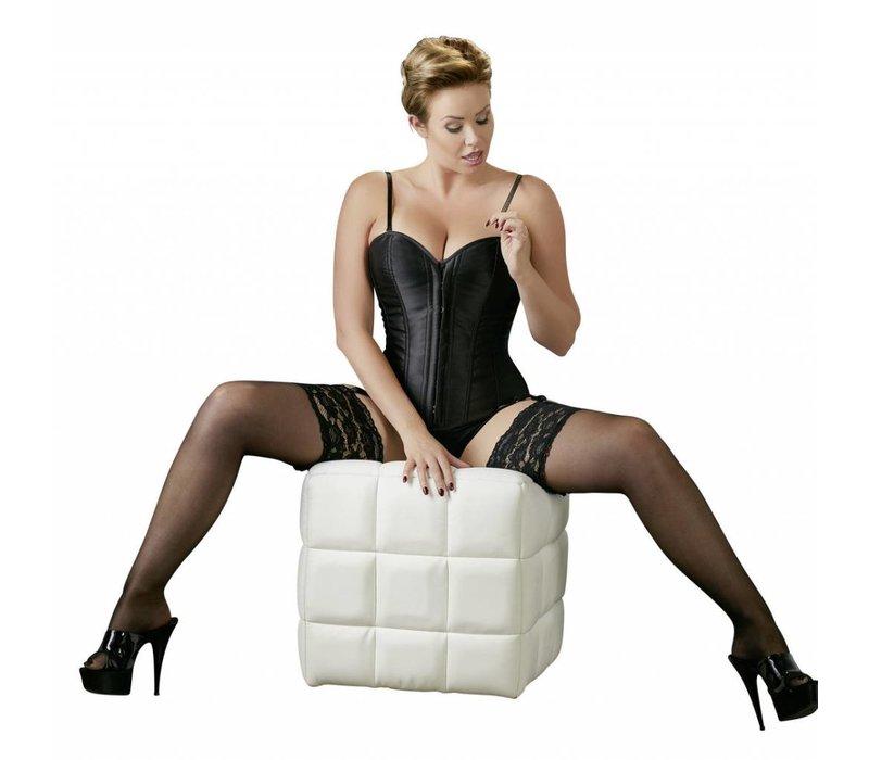 Zwart Plus Size Korset met Jarretels