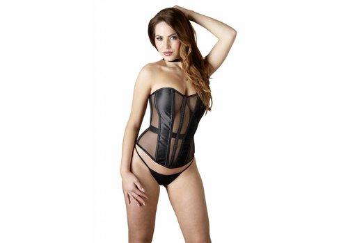 Cottelli Collection Black corset semi-transparent