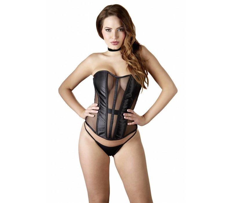 Black corset semi-transparent