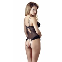 Black string body with removable cups