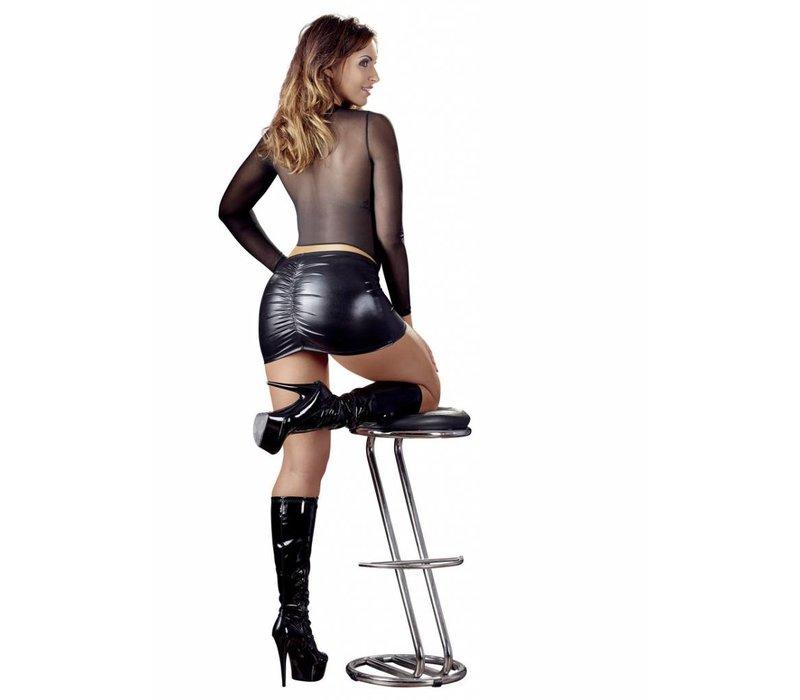 Wetlook miniskirt