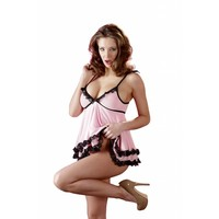Pink babydoll with string