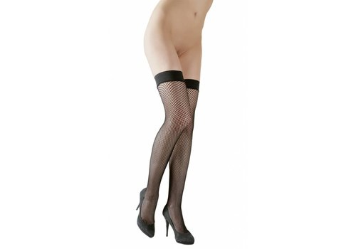 Cottelli Collection Zwarte hold-ups netkousen