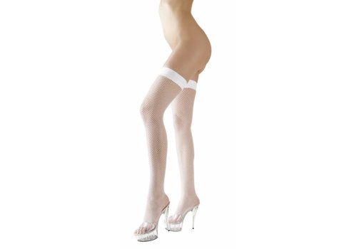 Cottelli Collection White fishnet stockings hold-ups