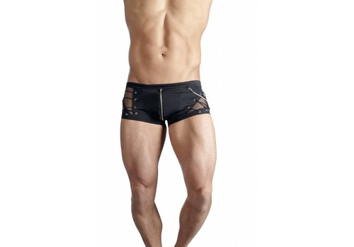 Svenjoyment Black boxer with zipper and fishnet structure