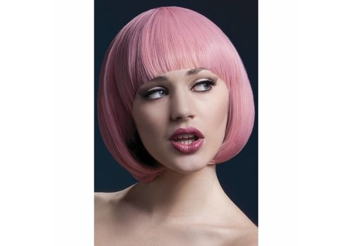 Fever Pastel Pink Bob wig with bangs