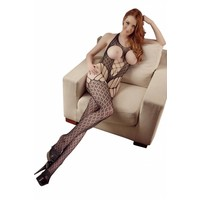 Catsuit with open cups and crotch S-L