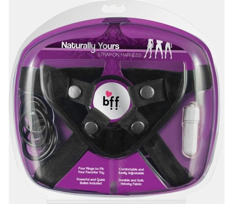 BFF Universal Strap Harness - with vibrator