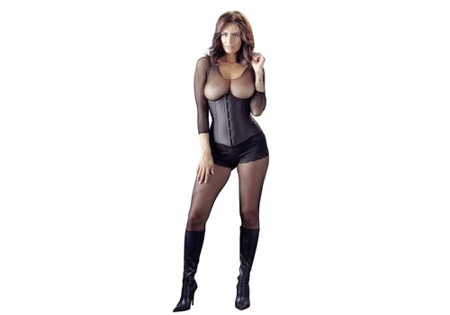 Cottelli Collection Black corset without cups