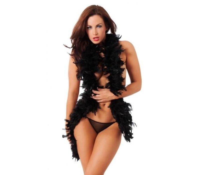 Seductive Boa - black feather