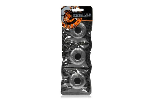 Oxballs Ringer Cockring 3-Pack - Steel