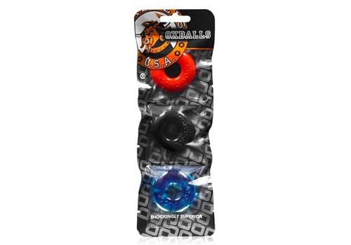 Oxballs Ringer Cockring 3-Pack - Multi-color