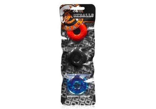 Oxballs Ringer Cockring 3-Pack - Multi-color