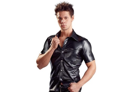 Svenjoyment Art Leather men's shirt with buttons