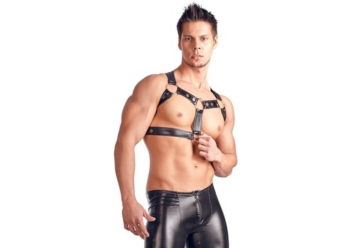 Svenjoyment Art Leather Chest Harness for men