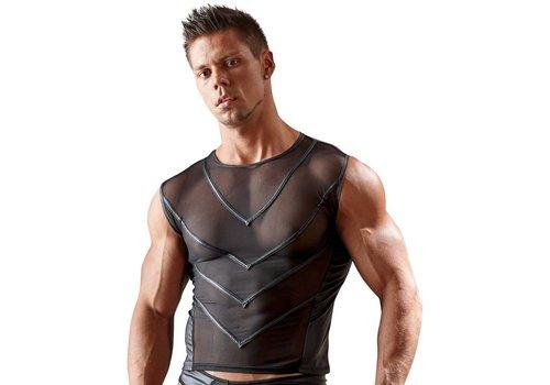 Svenjoyment Semi-transparent shirt with wet look