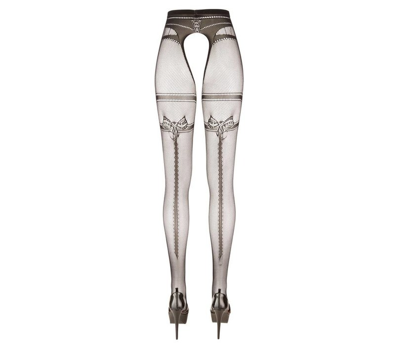 Tights with open crotch seam