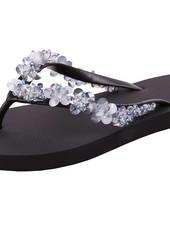 uzurii Precious Bloom Silver Uzurii slipper
