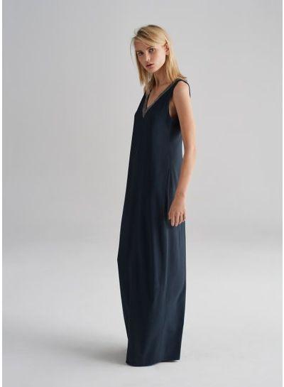 Fabiana Filippi Blue Bay maxi jurk FABIANA FILIPPI