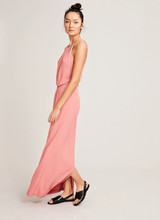 SAMSOE&SAMSOE WILLOW LONG DRESS DUSTY ROSE KLEED SAMSOE SAMSOE