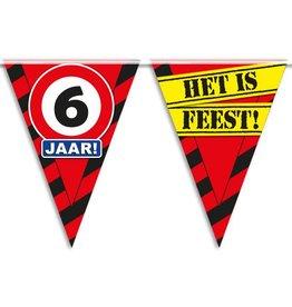 Party Vlaggen - 6 jaar