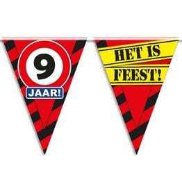 Party Vlaggen - 9 jaar