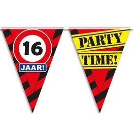 Party Vlaggen - 16 jaar