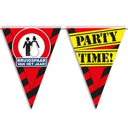 Party Vlaggen - bruidspaar