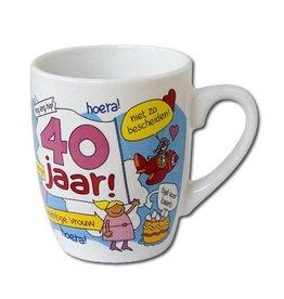 Cartoonmok 40 jaar vrouw