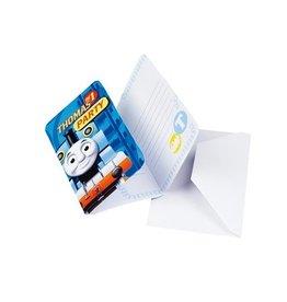 Uitnodigingskaarten+envelop Thomas de trein