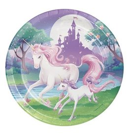 Bordjes Unicorn Fantasy (23cm, 8 stuks)
