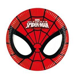 Bordjes Spiderman (Ø20cm, 8st)