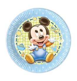 Bordjes Baby Mickey (Ø20cm, 8st)