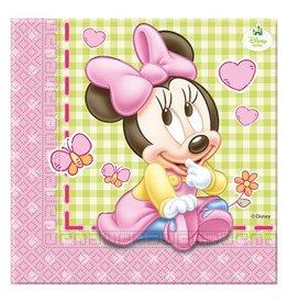 Servetten Baby Minnie (33x33cm, 20st.)